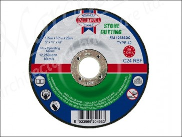 Cut Off Disc for Stone Depressed Centre 125 x 3.2 x 22mm