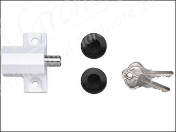 P114 Patio Door Lock Grey Finish Visi Pack
