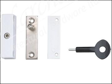 P118 Auto Window Lock White Finish Pack of 1