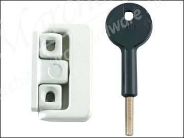 8K101 Window Latches Multi Pack of 4 White Finish Visi Pack