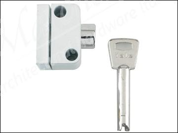 8K102 Push Button Window Lock White Finish Visi Pack
