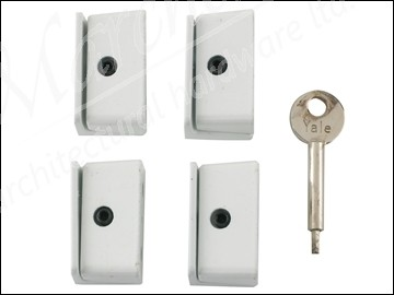8K109 Window Stop White Pack of 4 Visi Pack