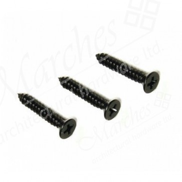 "No. 8 Gauge Pozi Black Screws (length 3/4-2"")"