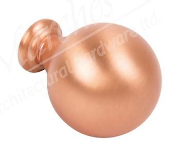 Odessa Knob, 30mm Ø - Brushed Copper