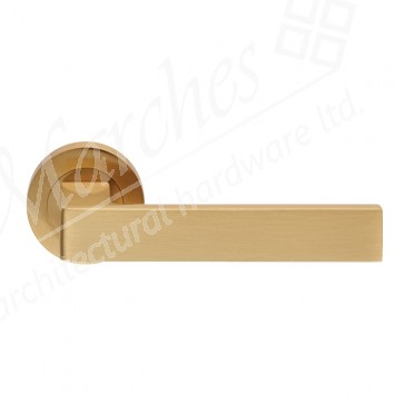 Sasso Lever Handle of Rose - Satin Brass
