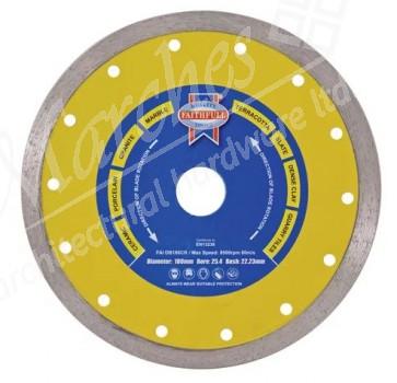 Diamond Tile Blade Continuous Rim - Various Sizes