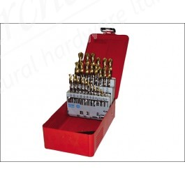 A095 Set 201 A002 HSS TiN Coated Jobber Drill Set