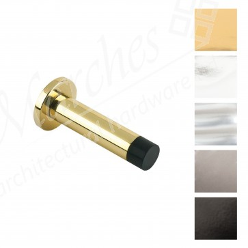 Cylinder Door Stop With Rose - Various Finishes
