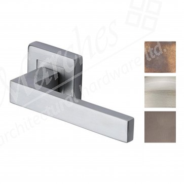 Square Lever on Rose Handle - Various Finishes