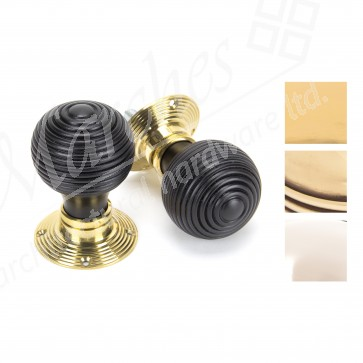 Ebony Beehive Mortice/Rim Knob Sets - Various Finishes