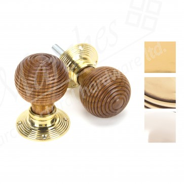 Rosewood Beehive Mortice/Rim Knob Sets - Various Finishes