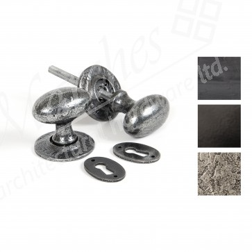 Oval Mortice/Rim Knob Sets - Various Finishes