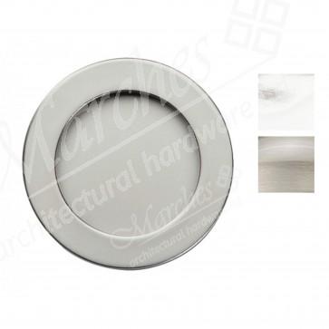 Flush pull handle, ø 50 mm - Various Finishes
