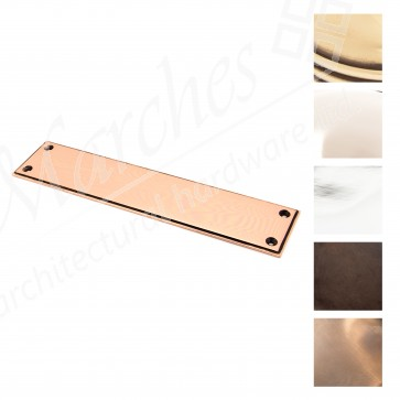 Small Art Deco Finger Plate - Various Finishes