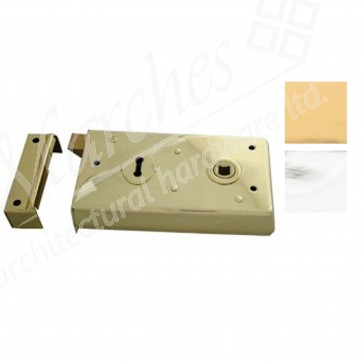 Eurospec Narrow Rim Lock - Various Finishes