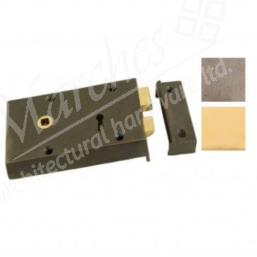 Small Cast Rim Lock - Various Finishes