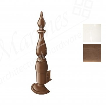 Exitex - Plastic Finial & Base - Various Finishes