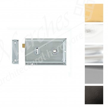 Lipped Rim Lock - Various Finishes