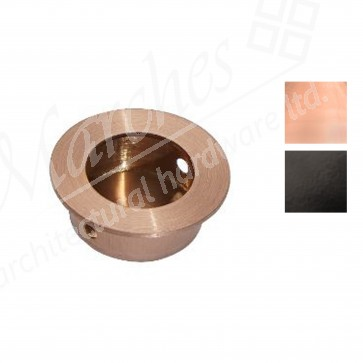 30mm Round Flush Pull Handle - Various Finishes