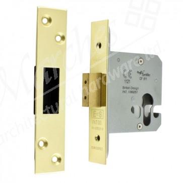 Euro Profile Dead Locks Brass - Various Sizes