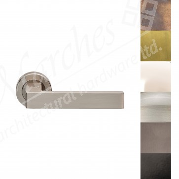 Sasso Lever Handle on Rose - Various Finishes