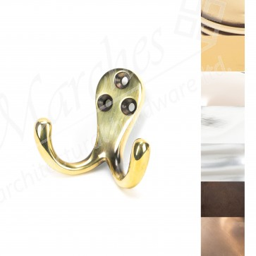 Celtic Double Robe Hook - Various Finishes