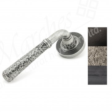 Hammered Newbury Lever on Rose Set (Beehive) - Various Finishes