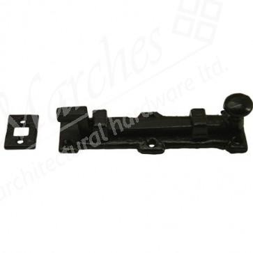 Kirkpatrick 1155 Cranked Knob Door Bolt - Black Antique - Various Sizes
