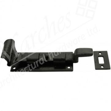 Handmade Cranked Door Bolt - Black - Various Sizes