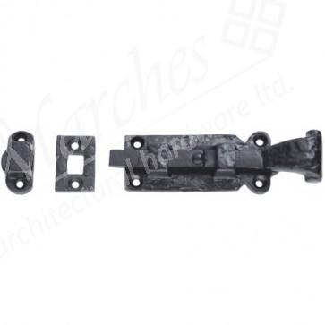 Straight Door Bolt - Black - Various Sizes