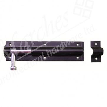 Straight Door Bolt - Epoxy Black - Various Sizes