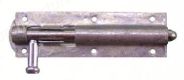 Straight Door Bolt - Galvanised - Various Sizes