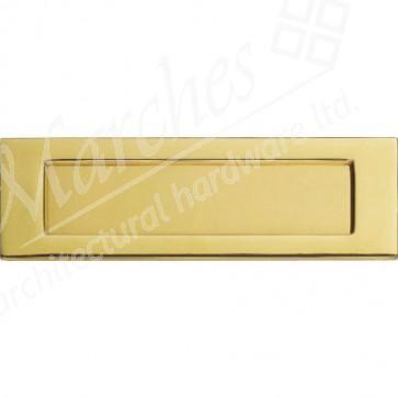 Letter Plate - Polished Brass
