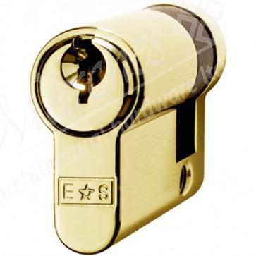 Single (Half) Euro Cylinder Key To Differ - Polished Brass