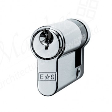 Single (Half) Euro Cylinder Key To Differ - Polished Chrome