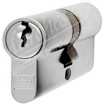 Double Euro Cylinder Key To Differ - Satin Chrome
