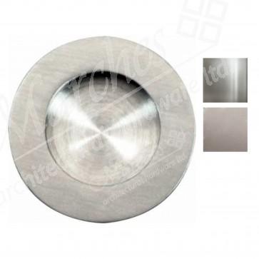 Flush pull handle, ø 65 mm - Various Finishes