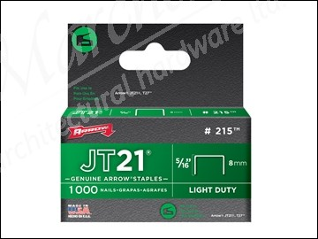 Box of 1000 6mm Arrow Staples Jt21 1//4in