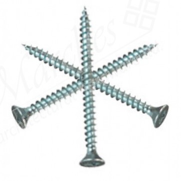 4mm (Gauge 8) Zinc Pozi Screws (length 20-55mm)