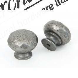 Pewter Hammered Knob - Various Sizes