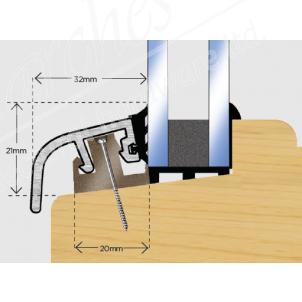 Posilok 32mm Window Trim 3m - White