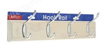 Standard 4 Hook Rail - White Wash