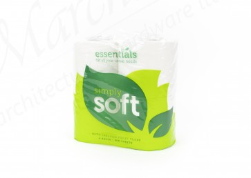 2 Ply Toilet Roll (Pack of 4)