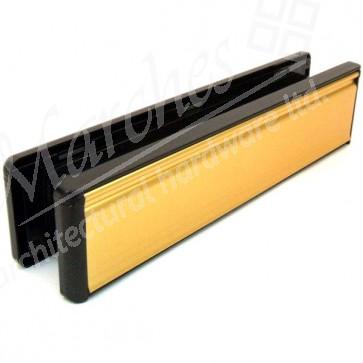 Gold & Black UPVC Letterbox 300 x 70mm