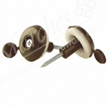 Brown 25mm Polycarbonate Fixing Buttons (1)