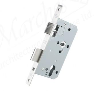 DIN Euro Sash Lock 60mm Backset- Satin Stainless Steel