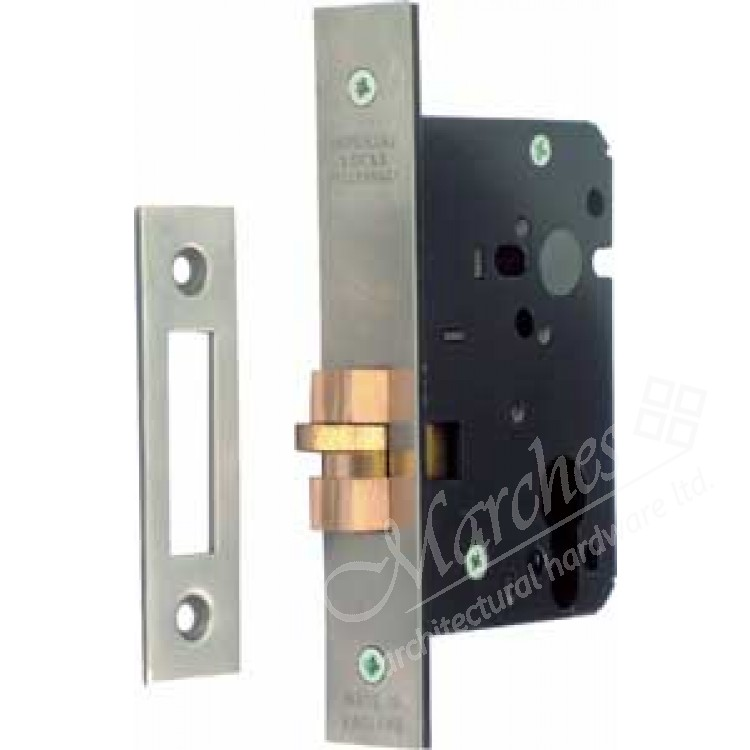 Mortice Cylinder Claw Bolt Dead Lock Case Satin