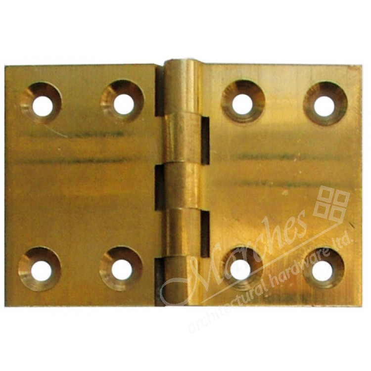 2 Back Flap Hinge Pair Polished Brass Backflap