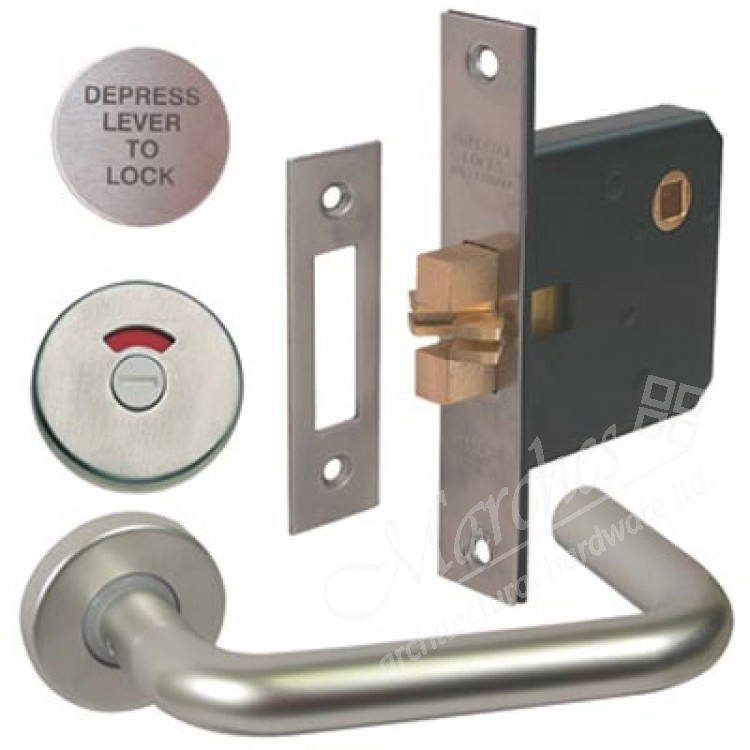 Lever Handle Indicator And Lock Set Disabled Toilet