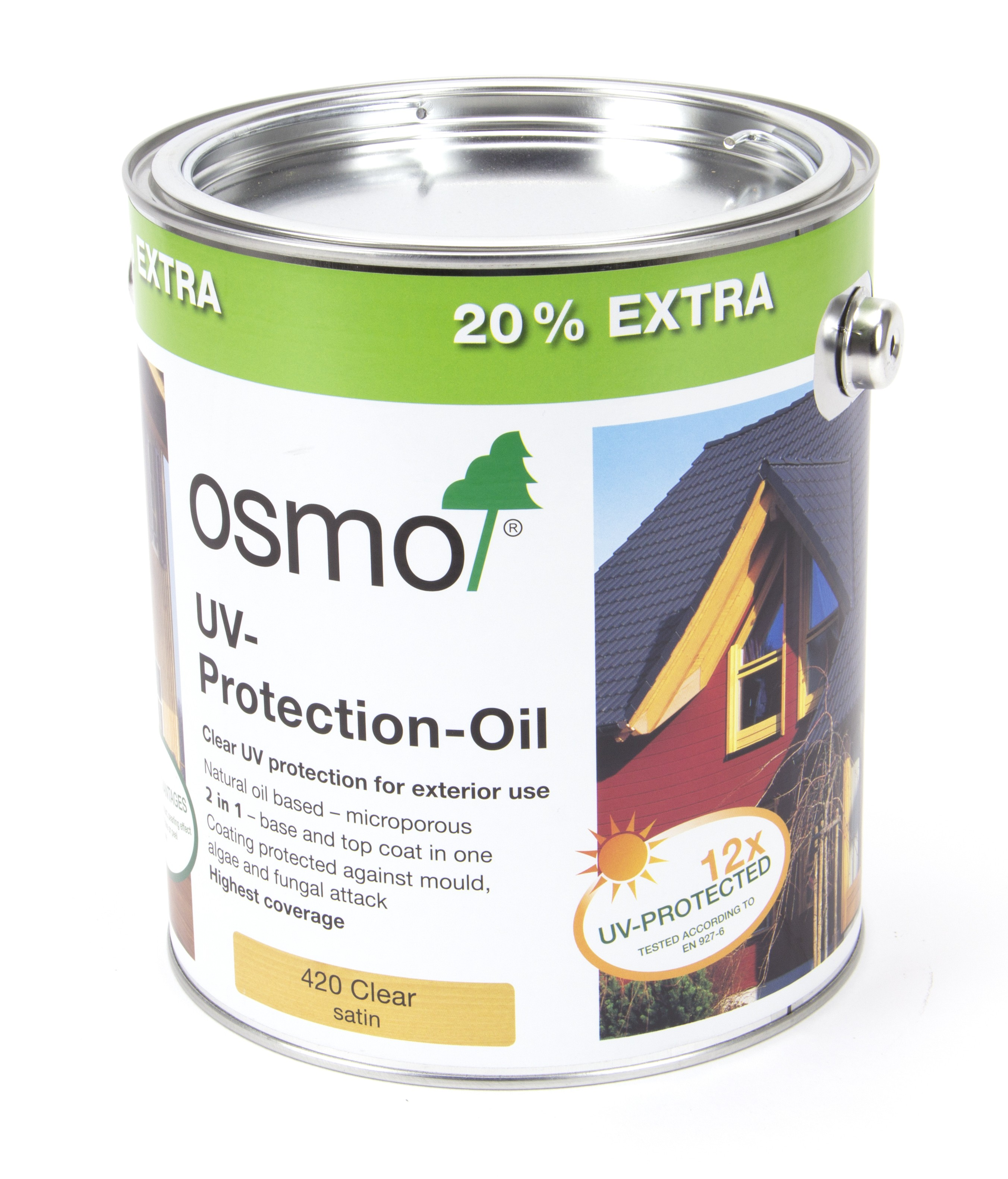 Osmo UV Protection Oil Extra (420) 3L Anniversary Tin (20% Extra Free) - Clear